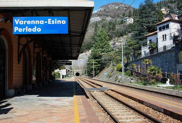 Railway station of Varenna